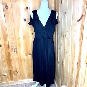 ASOS black sleeveless midi dress size 12
